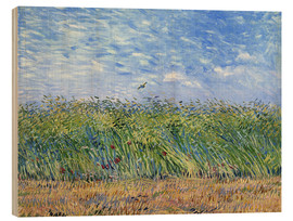 Puutaulu  Corn field with poppies and partridge - Vincent van Gogh
