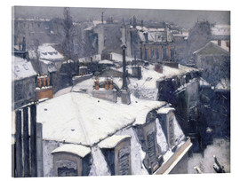 Akryylilasitaulu  Roofs in the snow - Gustave Caillebotte