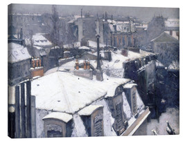 Canvas-taulu  Roofs in the snow - Gustave Caillebotte