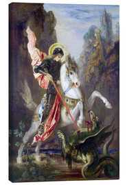 Canvas-taulu  St. George and the Dragon - Gustave Moreau