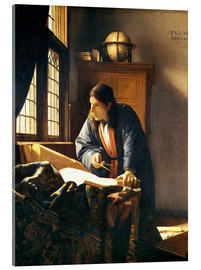 Akryylilasitaulu  A geographer or astronomer in his study - Jan Vermeer