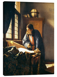 Canvas-taulu  A geographer or astronomer in his study - Jan Vermeer