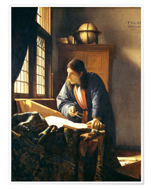 Juliste  A geographer or astronomer in his study - Jan Vermeer