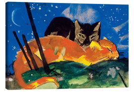 Canvas-taulu  Two cats - Franz Marc