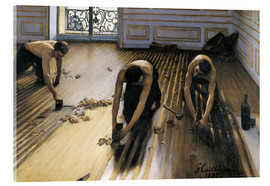 Akryylilasitaulu  The parquet planers - Gustave Caillebotte