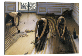 Alumiinitaulu  The parquet planers - Gustave Caillebotte