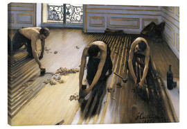 Canvas-taulu  The parquet planers - Gustave Caillebotte