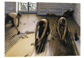 PVC-taulu  The parquet planers - Gustave Caillebotte