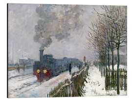 Alumiinitaulu  Train in the snow (The Locomotive) - Claude Monet