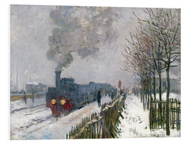 PVC-taulu  Train in the snow (The Locomotive) - Claude Monet