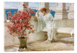 Akryylilasitaulu  Her eyes are with her thoughts and they are far away - Lawrence Alma-Tadema