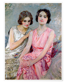 Juliste Two Young Women Seated