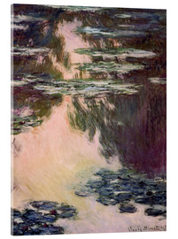 Akryylilasitaulu  Waterlilies with Weeping Willows - Claude Monet