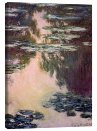 Canvas-taulu  Waterlilies with Weeping Willows - Claude Monet