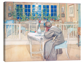 Canvas-taulu  The Evening Before the Journey to England - Carl Larsson