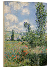 Puutaulu  Way through the poppies - Claude Monet