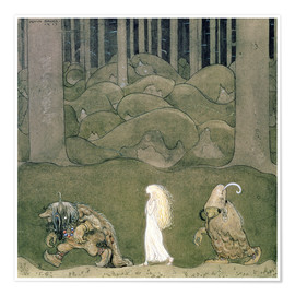 Juliste The Princess and the Trolls, 1913