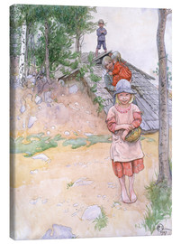 Canvas-taulu  By the cellar - Carl Larsson