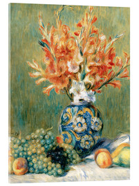 Akryylilasitaulu  Still Life with Fruit and Flowers - Pierre-Auguste Renoir