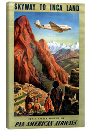 Canvas-taulu  Skyway to Inca Land - Travel Collection