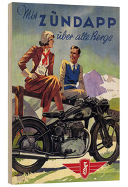 Puutaulu  With Zündapp over the hills (German) - Advertising Collection