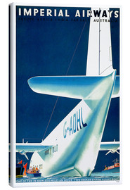 Canvas-taulu  Imperial Airways - seaplane - Travel Collection