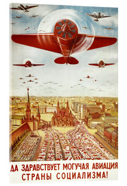 Akryylilasitaulu  Aircraft parade on Moscow - Advertising Collection