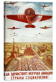 Canvas-taulu  Aircraft parade on Moscow - Advertising Collection