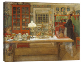 Canvas-taulu  Getting Ready for a Game - Carl Larsson