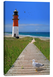 Canvas-taulu  The road to the lighthouse by the sea - Monika Jüngling