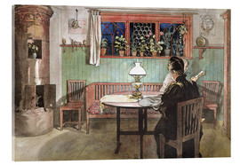 Akryylilasitaulu  When the Children have Gone to Bed - Carl Larsson
