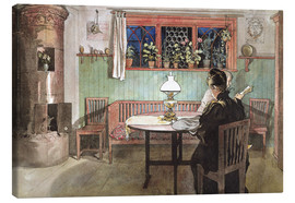 Canvas-taulu  When the Children have Gone to Bed - Carl Larsson