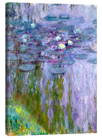 Canvas-taulu  Waterlilies - Claude Monet