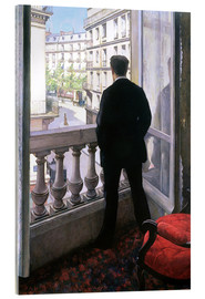 Akryylilasitaulu  Man at the Window - Gustave Caillebotte