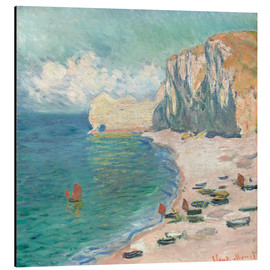 Alumiinitaulu  Cliff at Etretat - Claude Monet