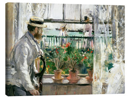 Canvas-taulu  Manet on the Isle of Wight - Berthe Morisot