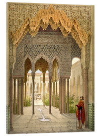 Akryylilasitaulu  The Court of the Lions, the Alhambra, Granada, 1853 - Léon Auguste Asselineau