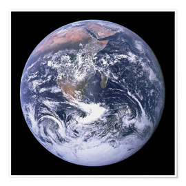 Juliste  Earth view from Apollo 17 moon mission