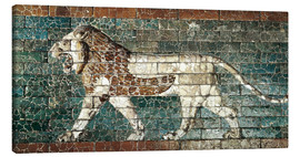 Canvas-taulu  Lion mosaic at the temple of Babylon