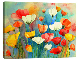 Canvas-taulu  Colorful poppies - siegfried2838