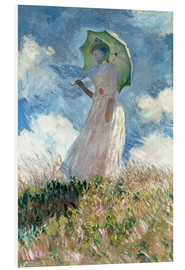 PVC-taulu  Woman with parasol turned to the left - Claude Monet