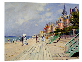 Akryylilasitaulu  The beach at Trouville - Claude Monet