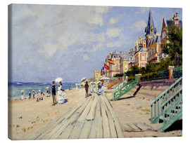 Canvas-taulu  The beach at Trouville - Claude Monet