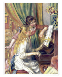 Juliste Two girls at the piano