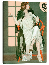 Canvas-taulu  Lady writing - Clarence Coles Phillips