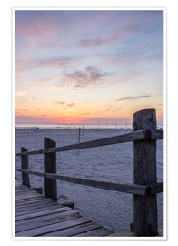 Juliste  Jetty into the sea from St Peter Ording - Dennis Stracke
