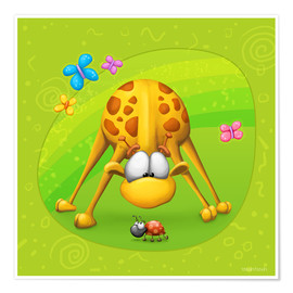 Juliste Giraffe with beetle