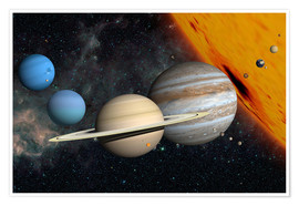 Juliste Planets and moons
