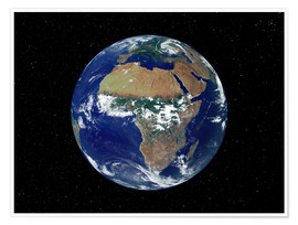 Juliste Earth - Africa and Europe