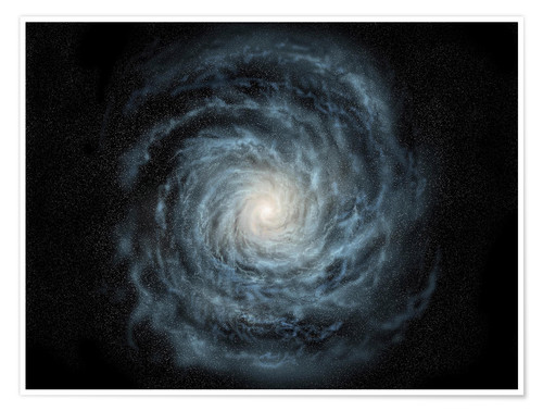 Juliste face-on view of the Milky Way